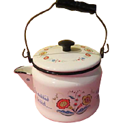 Berggren Penn Dutch Folk Art Design Enamel Tea Pot - g