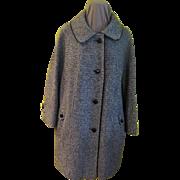Tweedy Black Car Coat