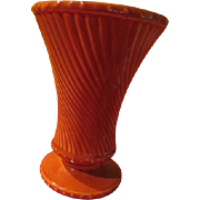 McCoy Swirl Footed Vase - b229