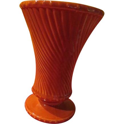 McCoy Swirl Footed Vase - b229