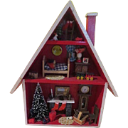 Night Before Christmas House Diorama - b236