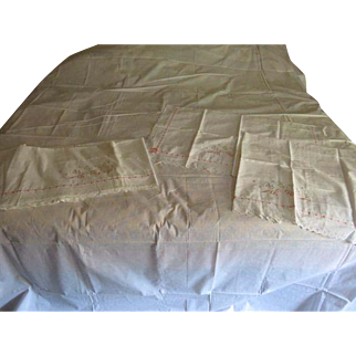 Pristine White with Pink ribbons Sheet Set - l8