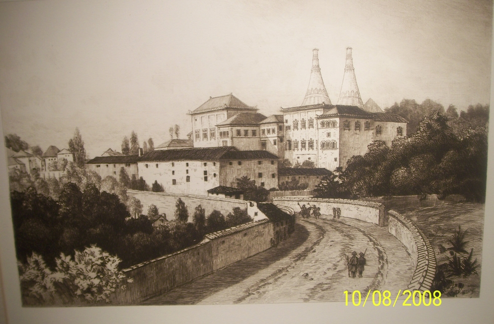 Cintra Original etching by C F W Mielatz