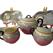 Czechoslovakian LDB Co. Lusterware 14 Piece Tea set - b229