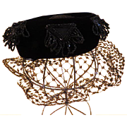 Beds on Black Velvet Veiled Hat