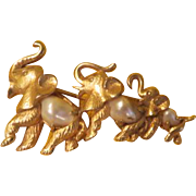 Boucher Elephants in a Row Parade Pin - Free shipping