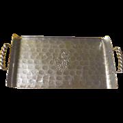 Mid-century Buenilum Hand Wrought Hammered Aluminum Tray - L10