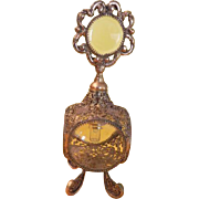 Filigree Perfume Bottle with Bezel Glass Dauber - b216