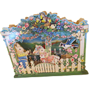 In tour Easter Bonnet Mechanical Music Box - b216