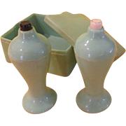 Sage Green Cavanite Shakers in Box - b217