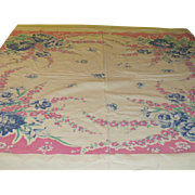 Peonies on Pink Tablecloth - b224