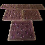 Amethyst/purple Raindrop Prism Glass Tiles - b244