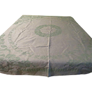 Reversible Shades of Green Tablecloth - CL