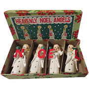 Heavenly Noel Angels Candleholders in Box - b247
