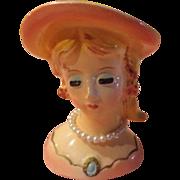 Pearl Choker Head Vase - b17