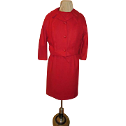 First lady of Fashion Red Dress and Jacket