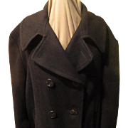 Double Breast Navy Pea Coat