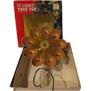 Golden Glitter Christmas tree Topper - b250