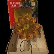 Golden Glitter Christmas tree Topper - b250
