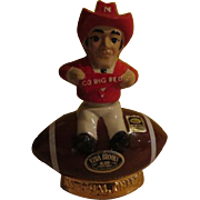 "Ezra Brooks Nebraska ""Big Red"" Cornhuskers National Champs 1972 Decanter - b250"