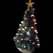 Green Ceramic Lighted Christmas Tree - b255