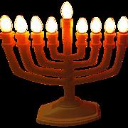 Happy Hanukkah Electric Menora - b255