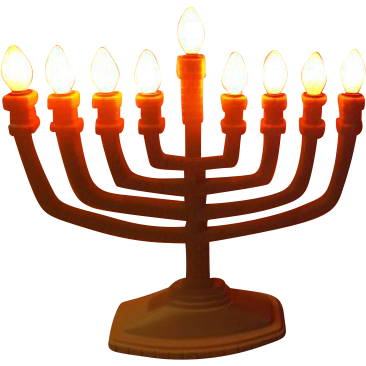 Happy Hanukkah Electric Menora - b255