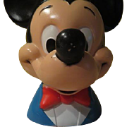 Play Pal Mickey Mouse Walt Disney Productions 1971 Bank - b252