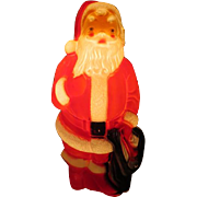 Empire Molded Plastic Santa - b252