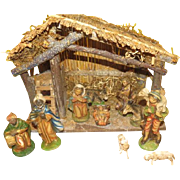 Italian Made Nativity set - b