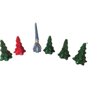 Christmas Tree and Gurley Church Candles - b249
