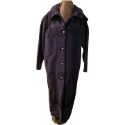 Woolrich Blanket woven Maxi Coat with Hood
