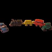 Tiny Metal Train and Cars - x-17-L