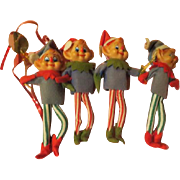 Arm in Arm Elf Twins Christmas Tree Ornaments - X-17
