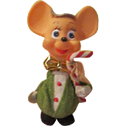Silly Mouse with Candy Cane Christmas tree Ornament - X-17