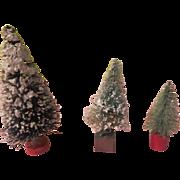 Flocked Bottle Brush Trees - X-17
