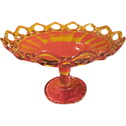 Imperial Glass Crocheted Crystal Footed Compote - DRB