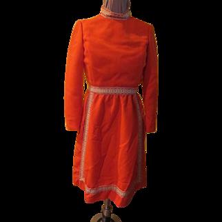 Braid Trim Dirndl Skirt Heidi Dress