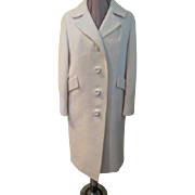 Boldly Buttoned Winter White Coat