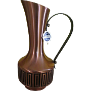 Mid-century Copper Pitcher/ewer - b240