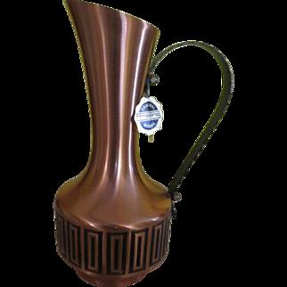 Mid-century Copper Pitcher/ewer - b240