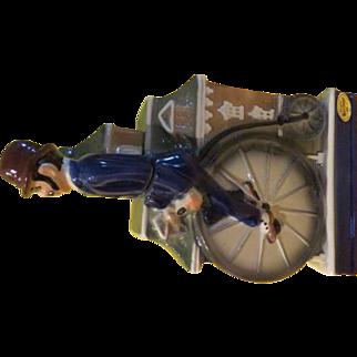 Penny Farthing High Wheel Bike/rider 1972 Ezra Brooks S.N. 37 Decanter - b228