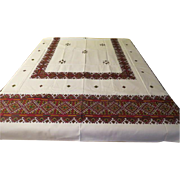 Spicy Paprika and Golden Mustard Print Tablecloth - L10