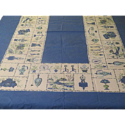Home Style Blue Tablecloth - b247