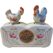 Chicken and Rooster Nodders Salt and Pepper Shakers - b248