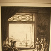 Prince Henry's School of Navigation, Original Etching C. F. W. Mielatz