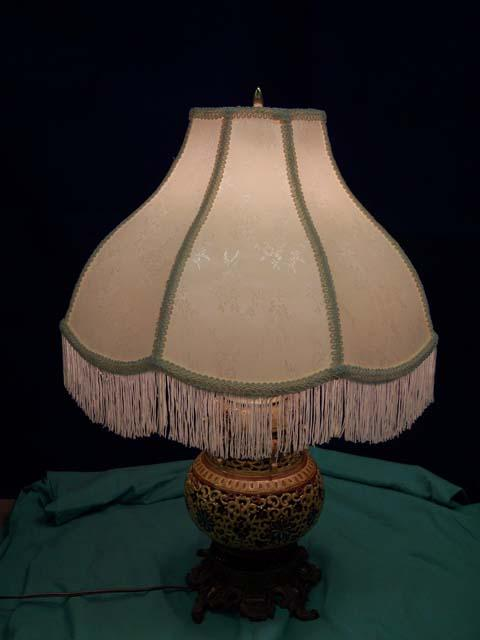 Majolica Table Lamp