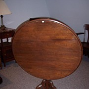 Walnut Victorian Tilt-Top Tea Table