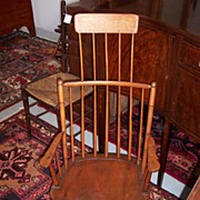American Windsor Comb-Back Rocker with Shawl Rack