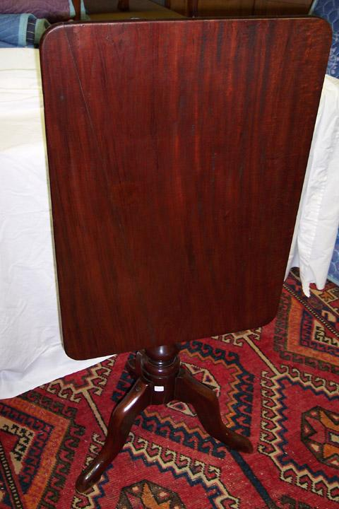 Mahogany Rectangular Tilt-Top Table